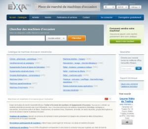 Exapro, la place de marché industrielle de machines d'occasion