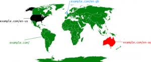 Exemple de Google pour les pages d'entrées multilocalisation