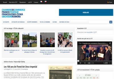 Site actualités de la Chambre de commerce franco-tchèque